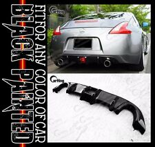 CARKING BLACK PAINTED ADD-ON REAR DIFFUSER SPOILER for 09-14 NISSAN 370Z COUPE