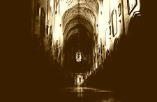 Framed Print - Gothic Cathedral Church Arch (Picture Poster Goth Angel Art)
