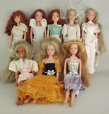 """9 Creata 1980s Fashion Doll Long Blonde Red Hair Clothing Gowns 11 1/2"""" Vintage"""