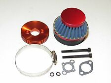 YY-MADMAX HPI KM ROVAN BAJA 1/5 5T 5B 5IVE AIR FILTER W/ ALUMINUM MOUNT KIT RED