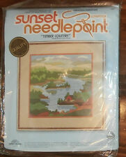 """Sunset Needlepoint, Timber Country, unopened, 12"""" x 12"""""""