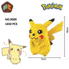 HC Anime Pokemon Pikachu Figure Diamond Mini DIY Building Nano Block Toy Monster