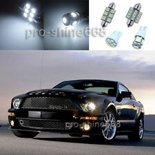 Xenon White LED Interior 9PCS Lights Plate Package for Ford Mustang 2010 2014