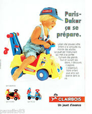 PUBLICITE ADVERTISING 086  1984  Clairbois jouets bébé SAMY Assistance