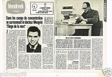 Coupure de presse Clipping 1980 (2 pages) Camps de Concentration Mengele