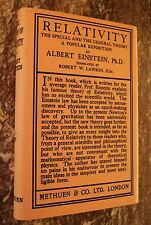 Relativity,the Special and General Theory, 1921, Albert Einstein, ~Early Edition