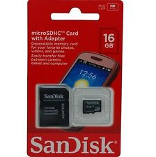 LOT OF 100 SANDISK 16GB MICRO SD MICROSDHC SDHC CLASS 4 FLASH MEMORY CARD