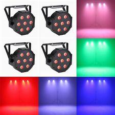 Stage Par LED Uplighting 70W DJ RGB DMX Dance Floor light Color Wall Wash 4 Pack
