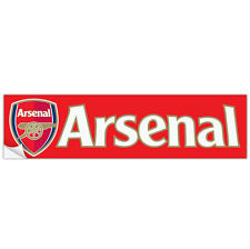 Arsenal FC Bumper Sticker Soccer Futbol Premier League EPL Gunners 10 x 3