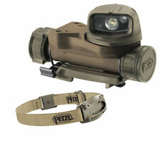 Petzl STRIX VL Tactical Military Head Torch MOLLE Flashlight Helmet Light Coyote