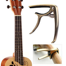 Green Bronze Zinc Alloy Guitar Capo Tune Quick Change Trigger Key Clamp Guitar