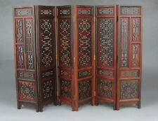 """new China rosewood suanzhi wood carved flower design small folding screen 9.7"""" H"""