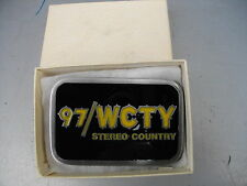 VINTAGE RADIO STATION 97/WCTY STEREO COUNTRY BELT BUCKLE