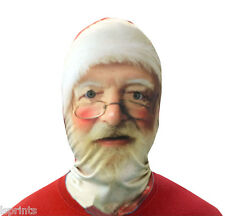 SANTA 3D EFFECT FACE SKIN LYCRA FACE MASK GRIM REAPER SCARY HALLOWEEN CHRISTMAS