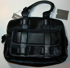 "Ugg Collection Black Natural Leather & Pony Hair Handbag ""Made by Hand in Italy"""