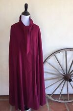 PENDLETON Cranberry Red Vintage Virgin Wool Cape Coat One-Size Oregon USA Nice!