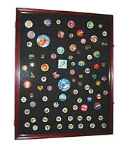 X LARGE Lapel Pin Medal Buttons Patches Ribbon Display Case Shadow Box, PC05-CH