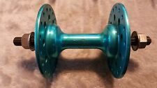 OLD SCHOOL BMX 80s BLUE 36 HOLE FRONT CHAIR HUB LARGE FLANGE FREE SHIPPING