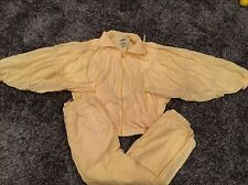 Vtg 80s Puma Cotton Polyester Warm Up Track Suit Jacket Size M Women's Yellow