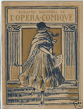 "PROGRAMME THEATRE NATIONAL DE L'OPERA COMIQUE 21 SEPTEMBRE 1921  "" WERTHER """