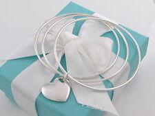 Tiffany & Co Silver Double Heart Triple Bangle Bracelet Packaging Box Pouch
