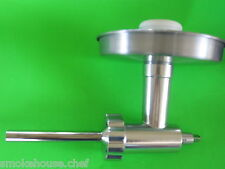 ALUMINUM Chefs Choice Metal Meat Grinder for Kitchenaid Mixer + Sausage Tube
