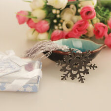 Fashion Snowflake Creative Exquisite Alloy Bookmark Ribbon Box New Year Gift 1Pc