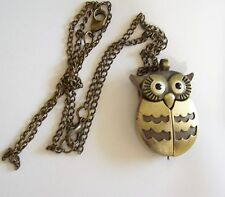 Vintage CHAOYADA OWL Watch Necklace - as is