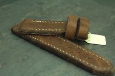 24mm leather watch strap buffalo glove tanned - ZTRITIUM Vintage for Panerai