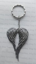 A Tibetan Silver  Big Angle Wings (68*46mm) , KEYRING, Key Chain Handbag, Charm