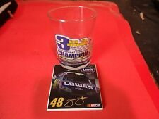 Jimmie Johnson Nascar 48 glass cup N coaster