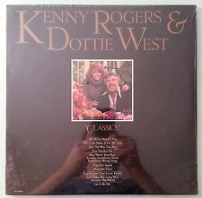 kenny rogers & dottie west  CLASSICS   LP VINYL sealed corner dings cover crease
