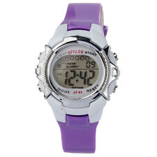 Fashion Children LED Digital Date Alarm Waterproof Sport Army Quartz Wrist Watch
