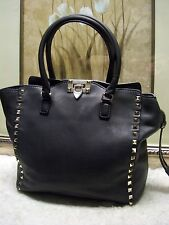 Authentic Valentino Rockstud Double Handle Tote Bag $2,445.00