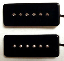 Guitar Parts GUITARHEADS PICKUPS - P90 SOAPBAR - Set of 2 - BLACK