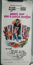 James Bond 007 LIVE AND LET DIE Poster Italian Roger Moore