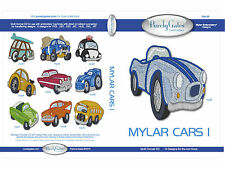 MYLAR CARS 1 MULTI FORMAT MACHINE EMBROIDERY CD BY PURELY GATES USA