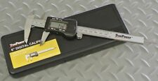 "6"" STAINLESS STEEL DIGITAL VERNIER CALIPER - FRACTION, DECIMAL, METRIC LCD +CASE"