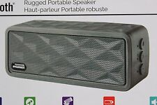 FAST SHIP! Sylvania Bluetooth Rugged Portable Wireless Speaker Rechargeable GRAY