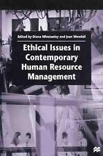 Ethical Issues in Contemporary Human Resource Management by Winstanley Diana...