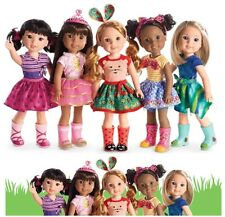 "**NEW** American Girl Wellie Wishers COMBO OFFER of ALL 5 FRIENDS 14.5"" Dolls"