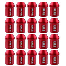 20Pcs D1 Red Wheel Lug Nuts Screw M12X1.5mm Short For HONDA ACURA INTEGRA