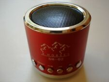 Mini Portable Speaker 3 horses MN 02 with FM (red)