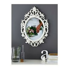 NEW IKEA UNG DRILL LARGE WHITE OVAL PICTURE FRAME VINTAGE SHABBY INSPIRED