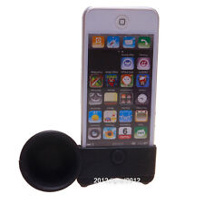 Black Silicon Horn Stand Speaker Audio Dock for Apple iPhone 4 4s 5 5s 5c