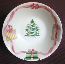 Sango HOME FOR CHRISTMAS Round Vegetable Bowl 4829 GOOD USED CONDITION