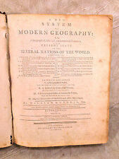 Antique Rare Book William Guthrie A New System of Modern Geography 1794 Vol 1
