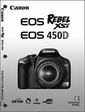Canon REBEL XSi EOS 450D Digital Camera User Instruction Guide  Manual