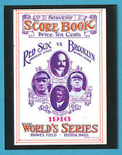 World Series Program Cover Card 1916 Robins/Red Sox