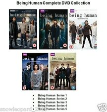 BEING HUMAN COMPLETE SERIES 1 2 3 4 5 DVD Set Brand New and Sealed UK Release